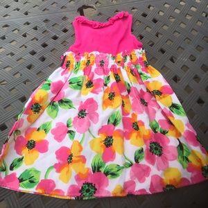 Sophie Rose - Girls frilly floral dress, Size 2